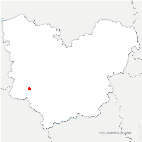 carte de localisation de Roussière