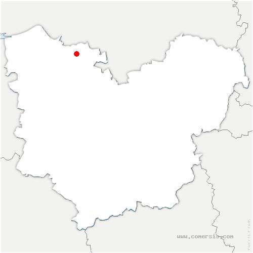 carte de localisation de Routot