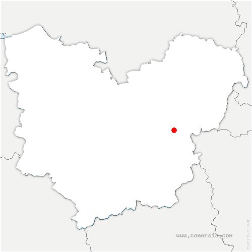 carte de localisation de Rouvray