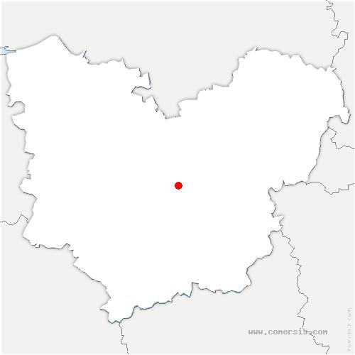 carte de localisation de Sacquenville