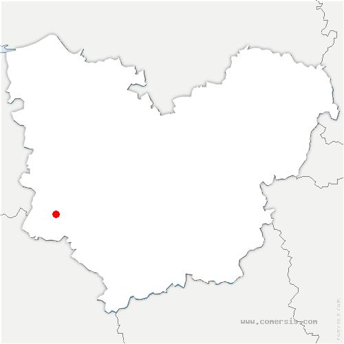 carte de localisation de Saint-Agnan-de-Cernières