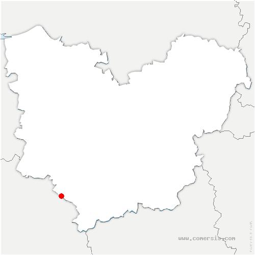 carte de localisation de Saint-Antonin-de-Sommaire