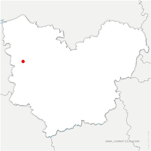 carte de localisation de Saint-Aubin-de-Scellon