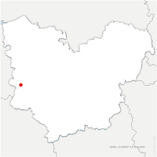 carte de localisation de Saint-Aubin-du-Thenney