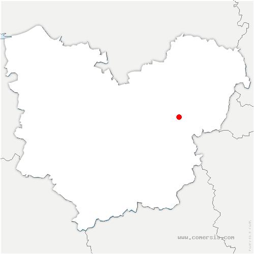 carte de localisation de Saint-Aubin-sur-Gaillon