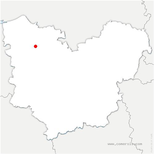 carte de localisation de Saint-Christophe-sur-Condé