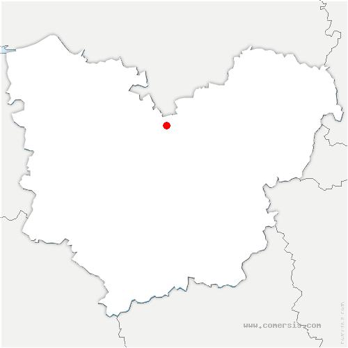 carte de localisation de Saint-Didier-des-Bois