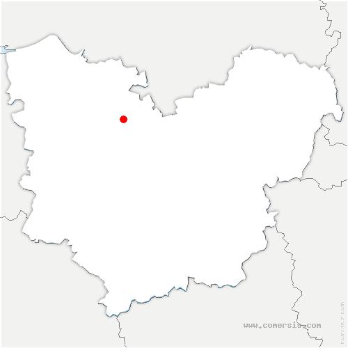 carte de localisation de Saint-Éloi-de-Fourques