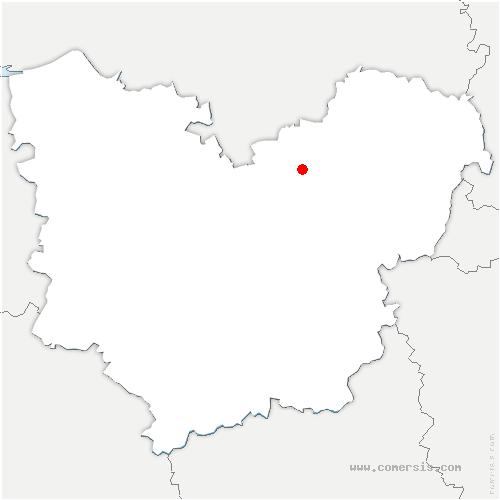 carte de localisation de Saint-Étienne-du-Vauvray