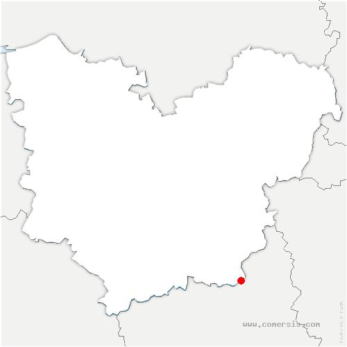 carte de localisation de Saint-Georges-Motel