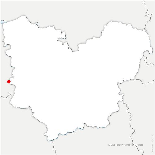 carte de localisation de Saint-Germain-la-Campagne
