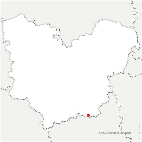 carte de localisation de Saint-Germain-sur-Avre