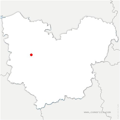 carte de localisation de Saint-Léger-de-Rôtes