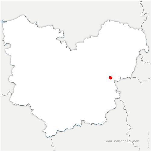 carte de localisation de Saint-Marcel