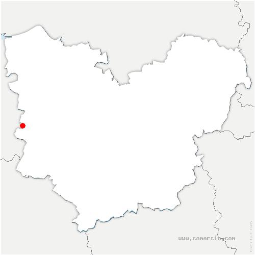 carte de localisation de Saint-Mards-de-Fresne