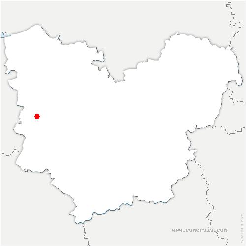 carte de localisation de Saint-Martin-du-Tilleul
