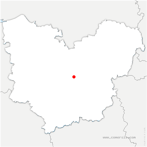 carte de localisation de Saint-Martin-la-Campagne