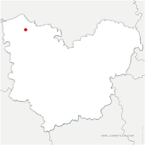 carte de localisation de Saint-Ouen-des-Champs