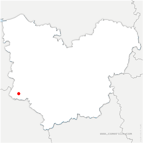 carte de localisation de Saint-Pierre-de-Cernières
