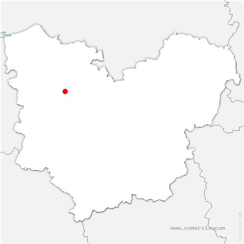 carte de localisation de Saint-Pierre-de-Salerne