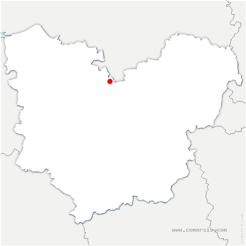 carte de localisation de Saint-Pierre-des-Fleurs