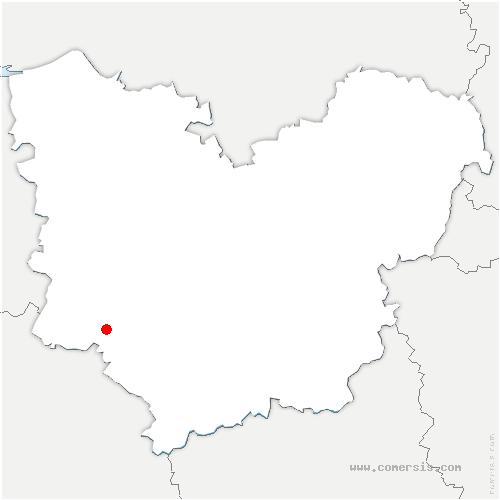 carte de localisation de Saint-Pierre-du-Mesnil