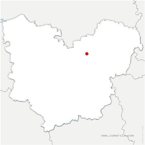 carte de localisation de Saint-Pierre-du-Vauvray