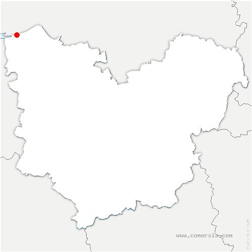 carte de localisation de Saint-Samson-de-la-Roque