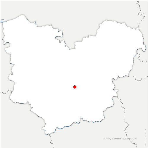 carte de localisation de Saint-Sébastien-de-Morsent
