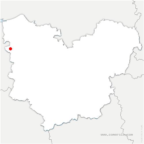 carte de localisation de Saint-Sylvestre-de-Cormeilles
