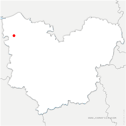 carte de localisation de Saint-Symphorien