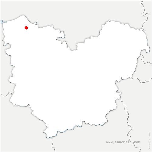 carte de localisation de Saint-Thurien