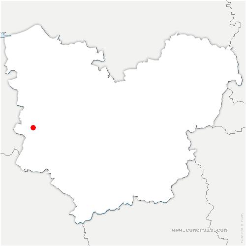 carte de localisation de Saint-Victor-de-Chrétienville