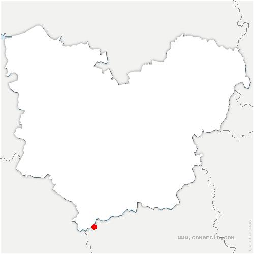 carte de localisation de Saint-Victor-sur-Avre