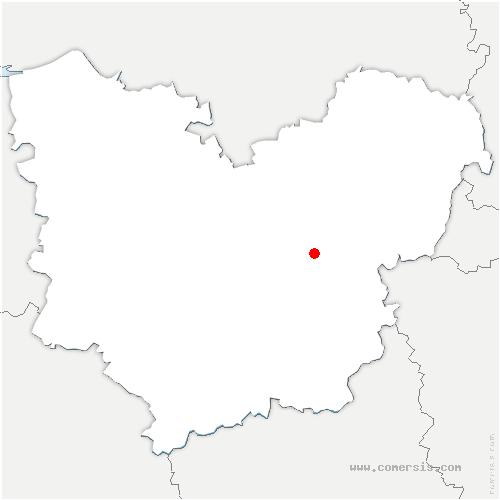 carte de localisation de Saint-Vigor