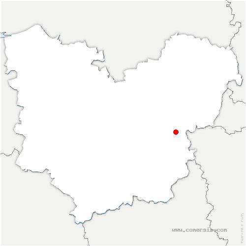 carte de localisation de Saint-Vincent-des-Bois