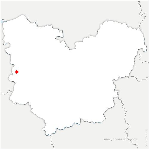 carte de localisation de Saint-Vincent-du-Boulay