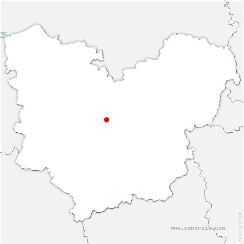 carte de localisation de Sainte-Colombe-la-Commanderie