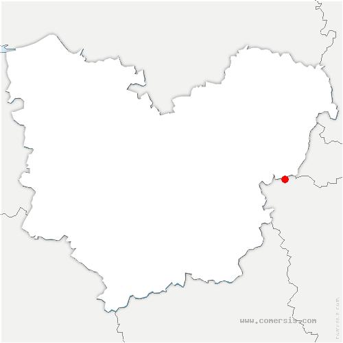 carte de localisation de Sainte-Geneviève-lès-Gasny