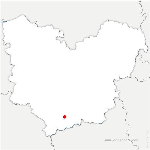 carte de localisation de Sainte-Marie-d'Attez