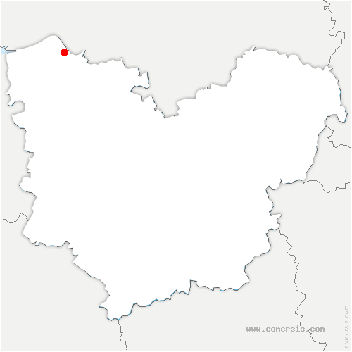 carte de localisation de Sainte-Opportune-la-Mare
