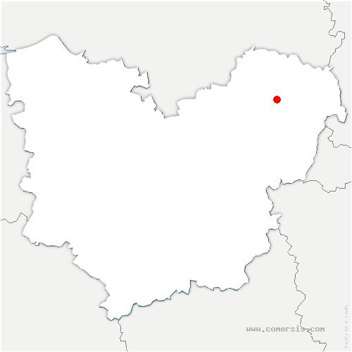 carte de localisation de Saussay-la-Campagne