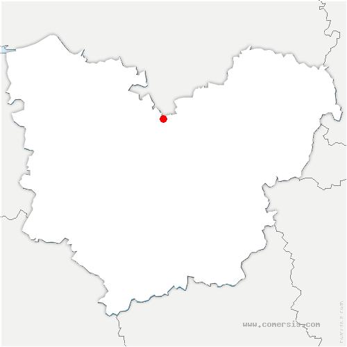 carte de localisation de Saussaye