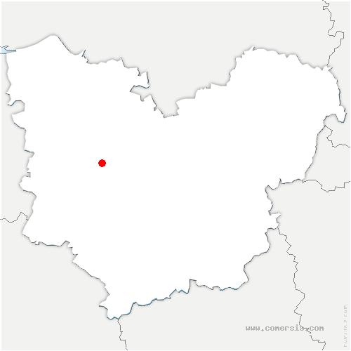 carte de localisation de Serquigny
