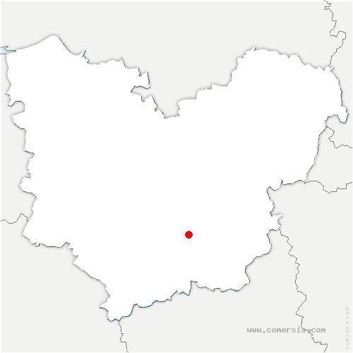 carte de localisation de Sylvains-les-Moulins