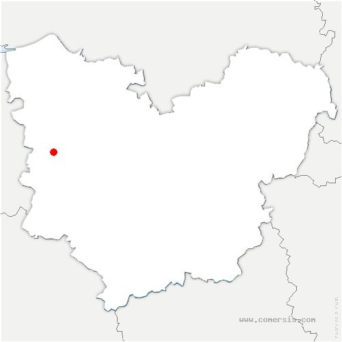 carte de localisation de Theil-Nolent