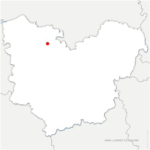 carte de localisation de Thenouville