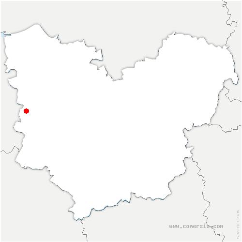 carte de localisation de Thiberville
