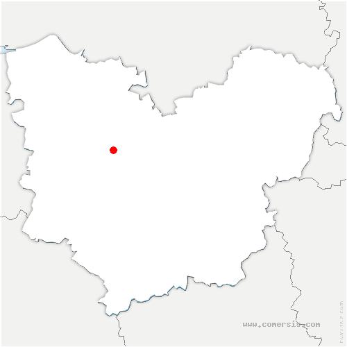 carte de localisation de Thibouville