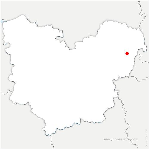 carte de localisation de Thilliers-en-Vexin